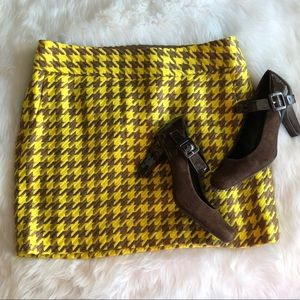 The Limited • Yellow Brown Printed Skirt